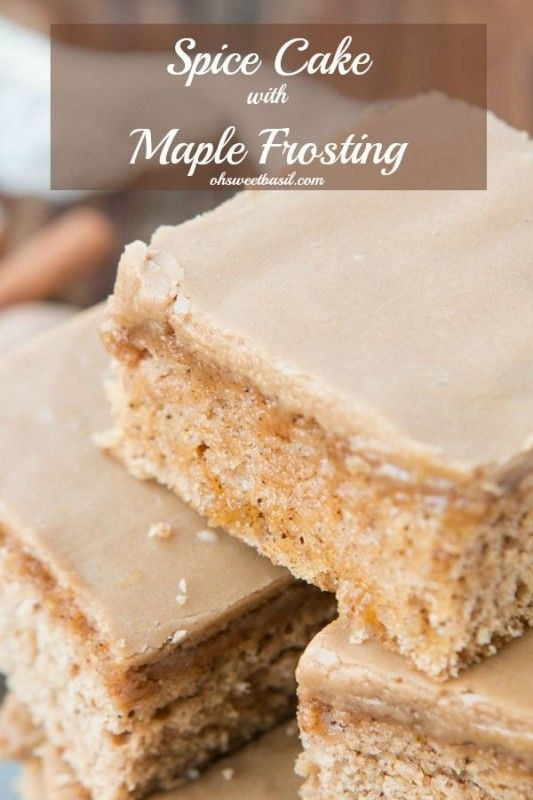 Warm, soft, and the best smelling cake ever and this spice cake with maple frosting happens to taste amazing!