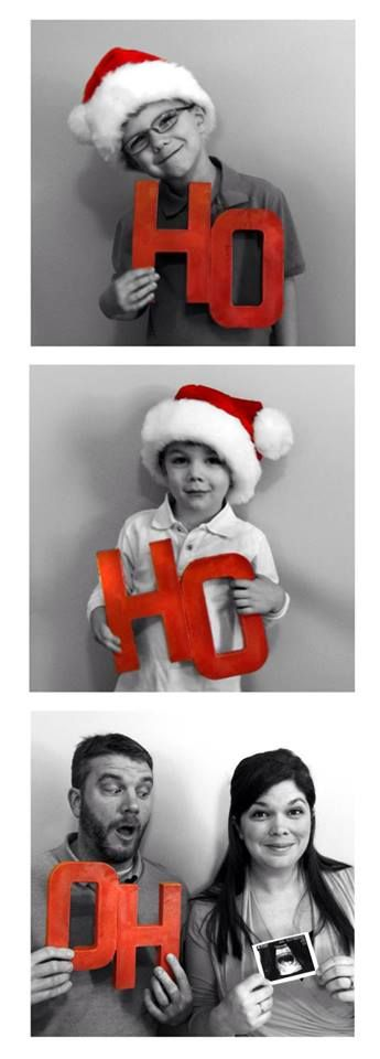 Christmas baby announcement