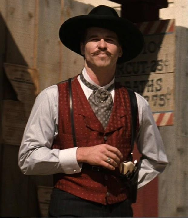 Val Kilmer - Doc Holliday in the movie Tombstone and Zorro in The Mark of Zorro radio drama.