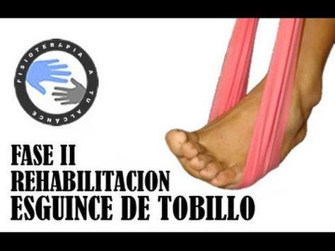 Esguince de tobillo, rehabilitacion fase 2 / Fisioterapia a tu alcance - YouTube