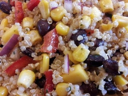 Southwestern Black Bean, Quinoa and Mango Salad
