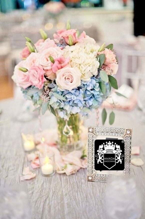 45 best light blue light pink and white images on for Pink and blue flower arrangements