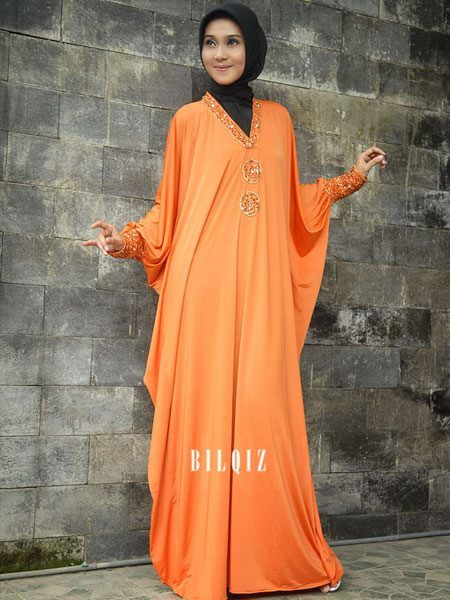 Orange #Kaftan #HijabDress