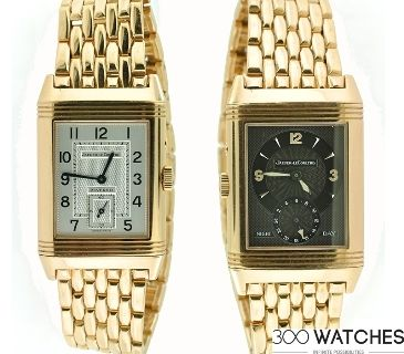 Jaeger-LeCoultre Reverso 270.2.54 DUO 18k RG Dual Time Mechanical Watch