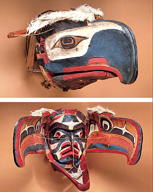 Eagle transformation mask, Kwakiutl (Vancouver Island, B.C.), 19th century.