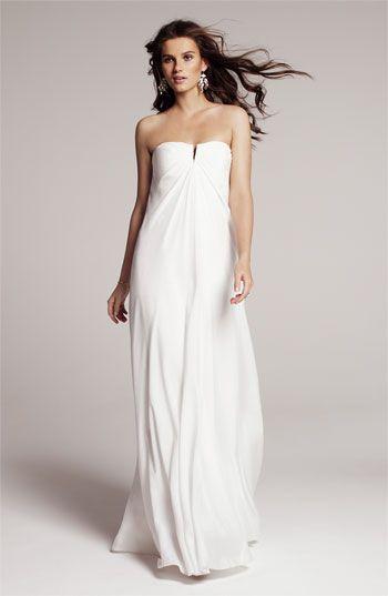 Nicole Miller Strapless Silk Chiffon Gown | Nordstrom