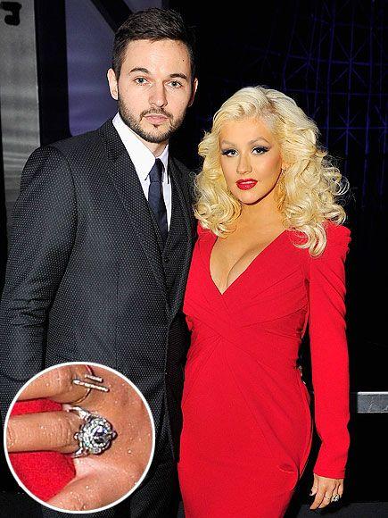 Huge Celebrity Engagement Rings Best WeddingsChristina AguileraTaylor