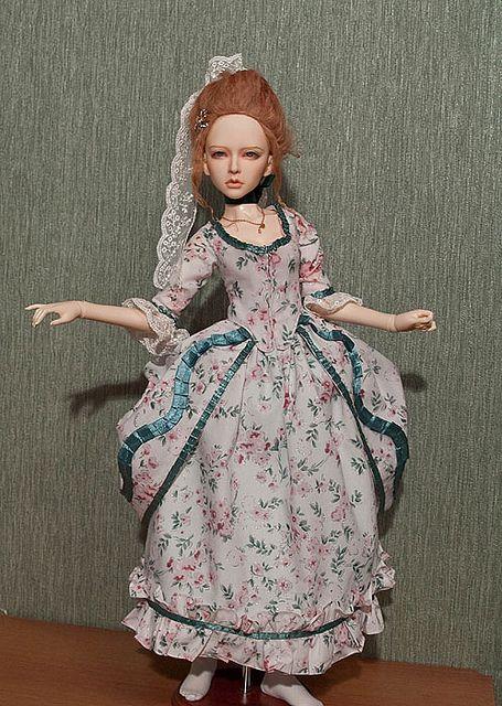 Полонез в цветочек 1770-1785 — Историческая и стилизованная одежда для кукол