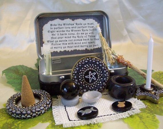 Pocket Travel Altar in Gold and Silver by TheWhimsicalPixie11, $24.99