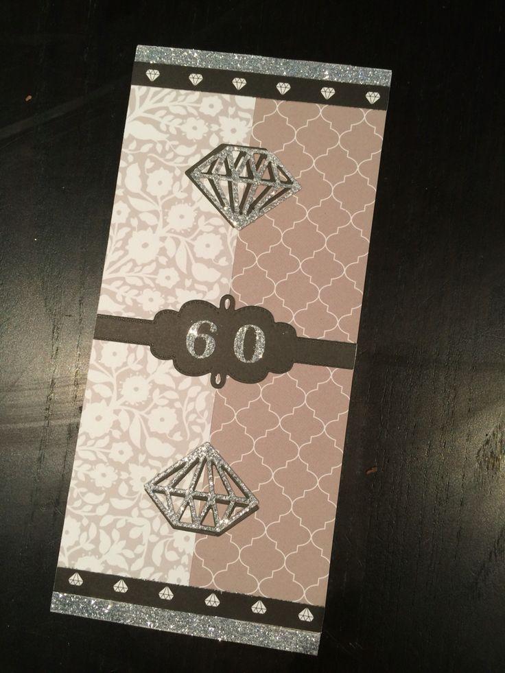 Carte noces de diamant 60 ans de mariage