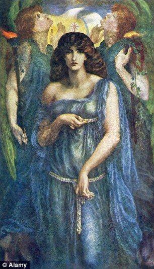 Morris depicted as Syrian goddess Astarte Syriaca by Rossetti