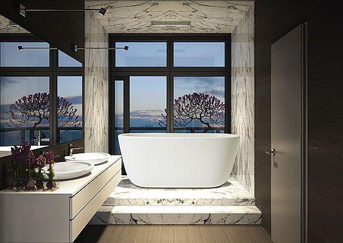 17 meilleures id es propos de baignoire en pierre sur pinterest baignoire - Baignoire ilot petite taille ...