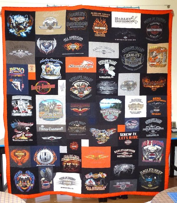 17 best Harley t-shirt quilts images on Pinterest | Birthdays ... : quilt gifts - Adamdwight.com