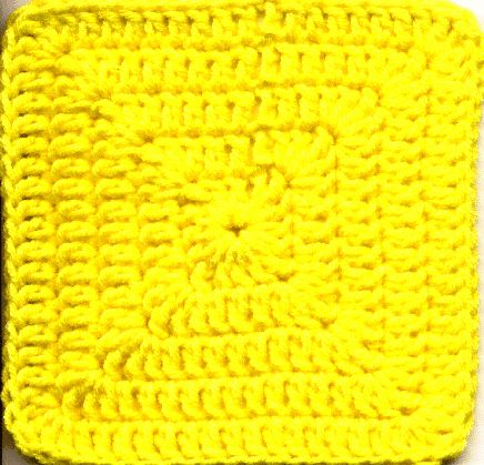 Simple Solid Granny Square pattern from http://www.angelfire.com/mi/givinghands/simplesolid.html#.