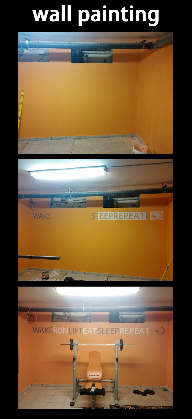 Motivation wall painting for fitness :)