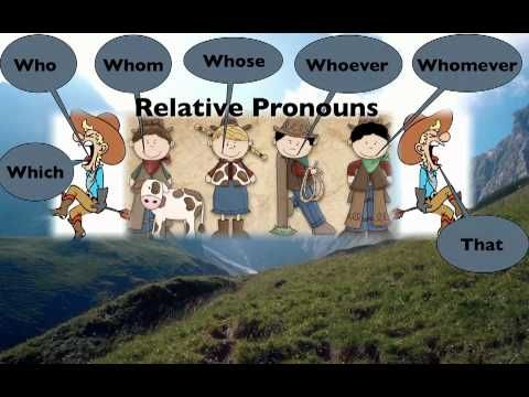Essentials class wk. 3:  Relative Pronouns Song