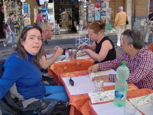 Pranzo con amici a Roma
