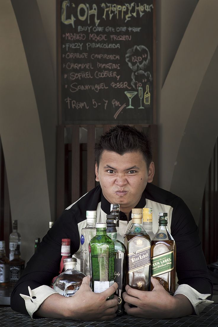 """I'm a night owl, so working behind the bar seemed like a good job for me,"" says Budiman ""Tom"" Atmaja"