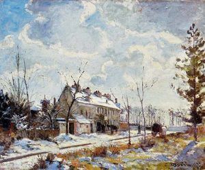 Louveciennes Road, effetto neve (1872)