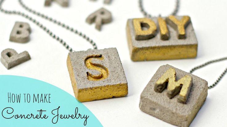 DIY Cement Jewelry