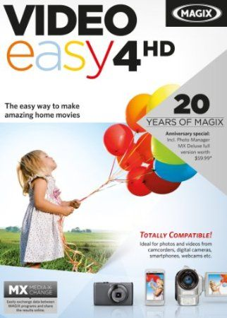 With MAGIX Video easy 4 HD, it's super easy to make amazing movies in no time at all even without any previous video editing skills. Transform photos and videos of family celebrations, vacations, or special events into amazing movies and burn them to DVD or Blu-ray complete with animated menus. Did a photo or video not quite turn out the way you wanted? Is the color or exposure a bit off? Video easy 4 HD makes these kinds of problems a thing of the past!  Price: $39.99