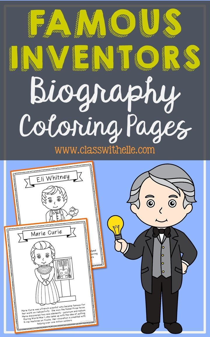 famous scientist coloring pages - photo#33
