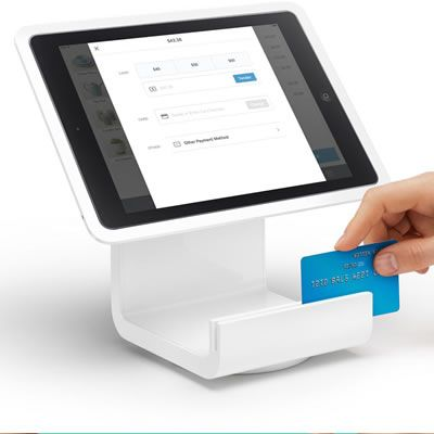 iPad Point of Sale | Square Stand = $ 100 = SQUARE STAND Transform an iPad into a point of sale.= Square Stand comes ready to process credit cards. Swipe securely with the integrated card reader.