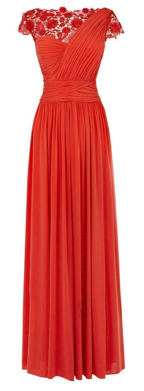 vestido largo en coral (de COAST)