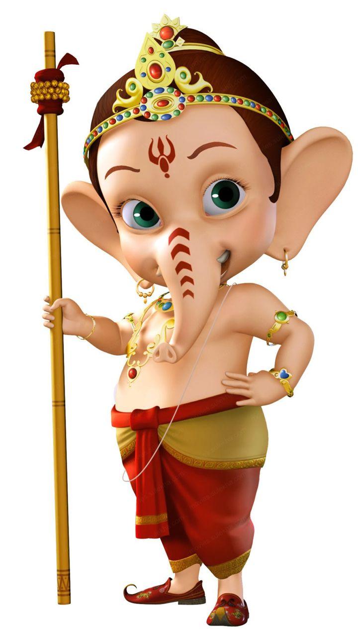 Bal Ganesha HD Cartoon | Mobile Wallpaper | Phone Background