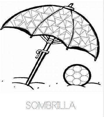 Sombrilla con gomets | Manualidades de una maestra en prácticas