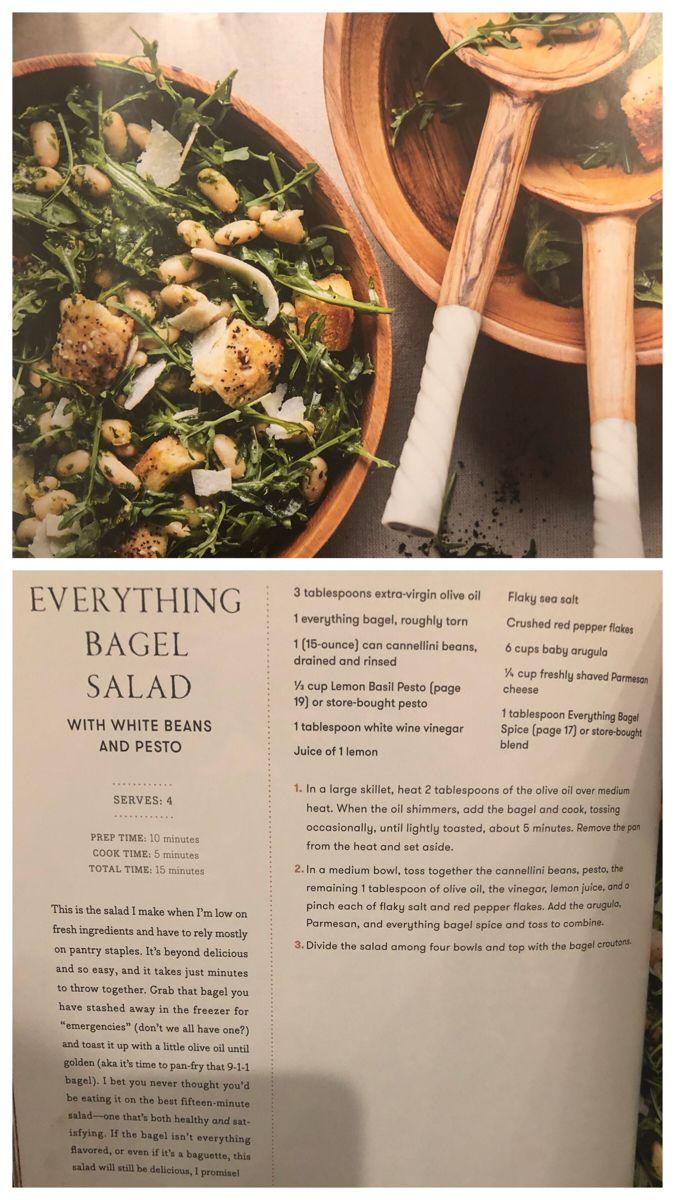 Everything Bagel Salad With White Beans And Pesto Harvest Salad Recipes Half Baked Harvest Recipes Harvest Recipes