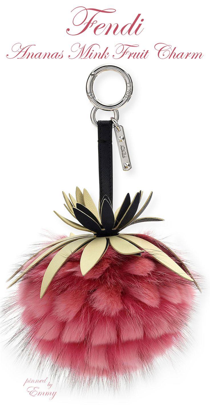 Brilliant Luxury♦Fendi Candy Colours Spring 2017♦Ananas Mink Fruit Charm for Handbag #pink