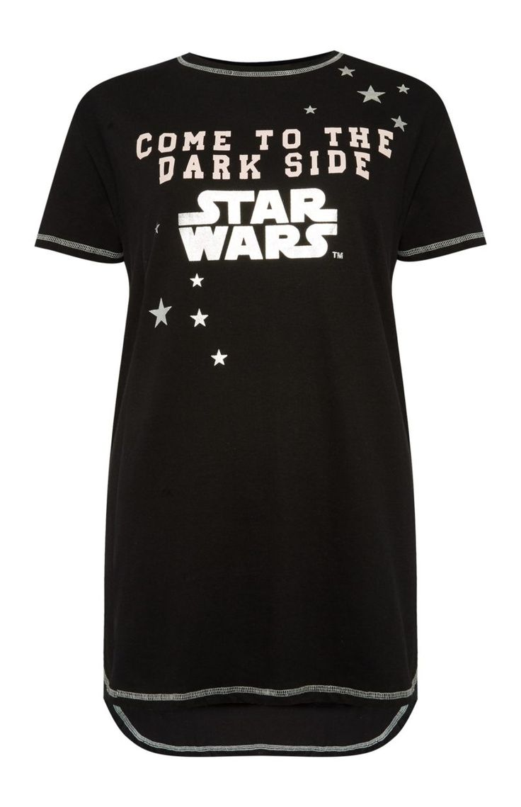 Women's Star Wars Come To the Dark  Side pyjama night dress available at Primark UK ⭐️ Star Wars fashion ⭐️ Geek Fashion ⭐️ Star Wars Style ⭐️ Geek Chic ⭐️