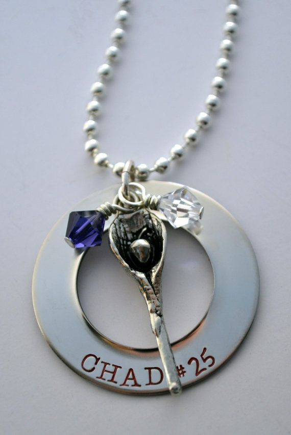 Lacrosse necklace  Lacrosse mom necklace  by LauriginalDesigns, $27.00
