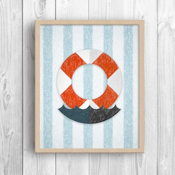 Boat Lifebuoy Art Print Life Ring Boat Lifesaver by MyGalleryWall