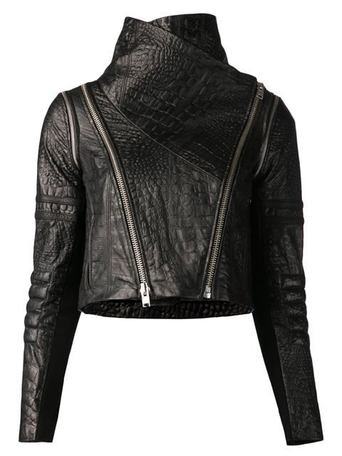 Yigal Azrouel Crocodile Effect Biker Jacket
