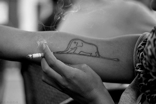 Little Prince Tattoo  Omg! I really wanna get one like this done!  Not sure if with or without the elephant ...