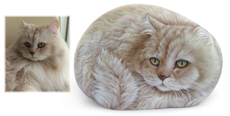 Romeo - acrylic on rock - cm. 20 (sold) | Rock Pet Portraits by Roberto Rizzo | www.robertorizzo.com