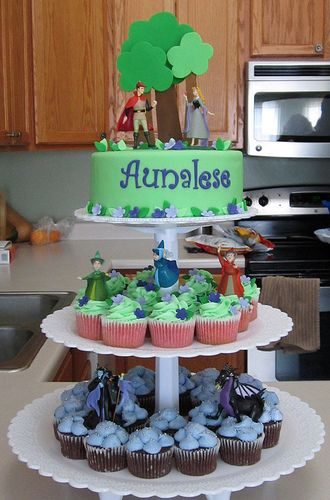 sleeping beauty cupcake tower by Sweeten Your Day, via Flickr