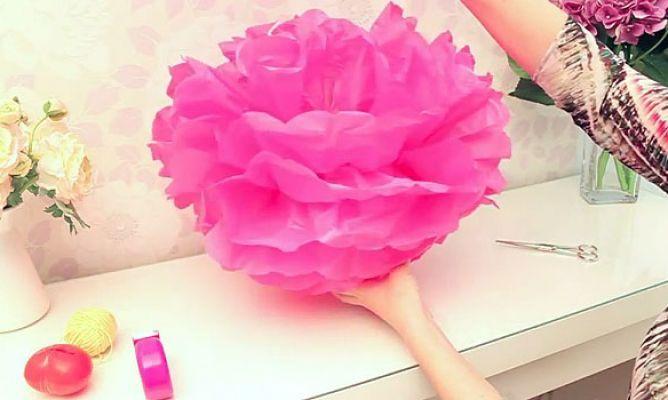 Aprende cómo hacer flores de papel de seda gigantes para decorar tu estancia preferida. ¡No te pierdas el paso a paso!