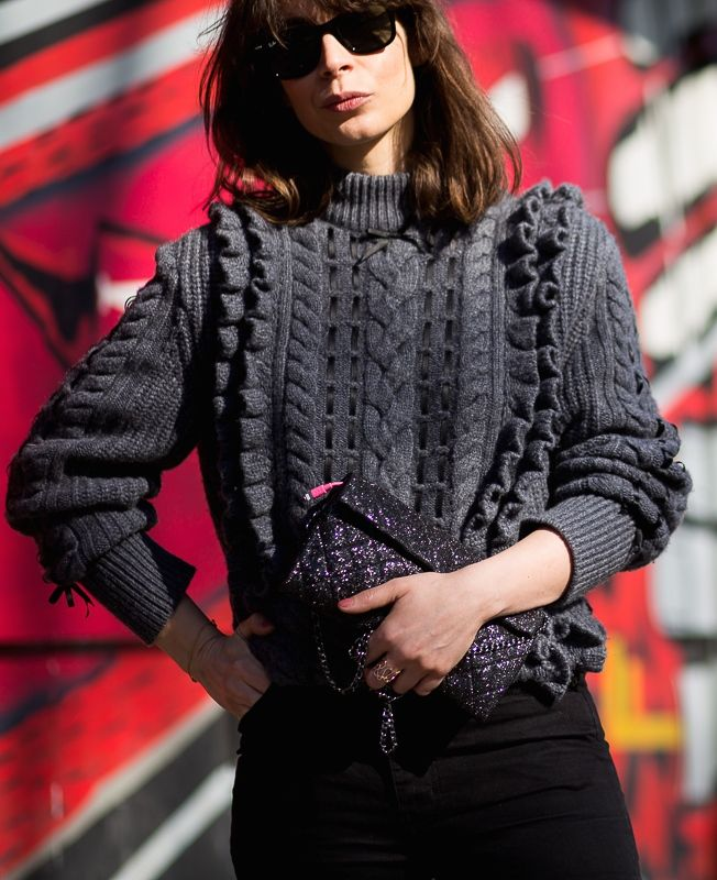 great knit. Irina in Paris. #APortablePackage