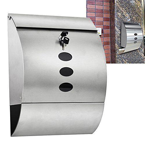 exterior mailboxes uk. popamazing waterpfoof stainless steel lockable mailbox \u0026 newspaper holder outdoor mail/post/letter box exterior mailboxes uk r