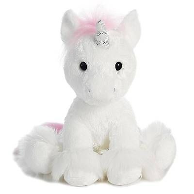 "12"" Aurora Plush White Unicorn Stuffed Animal Toy ""Dreaming Of You"" Horse 07790"