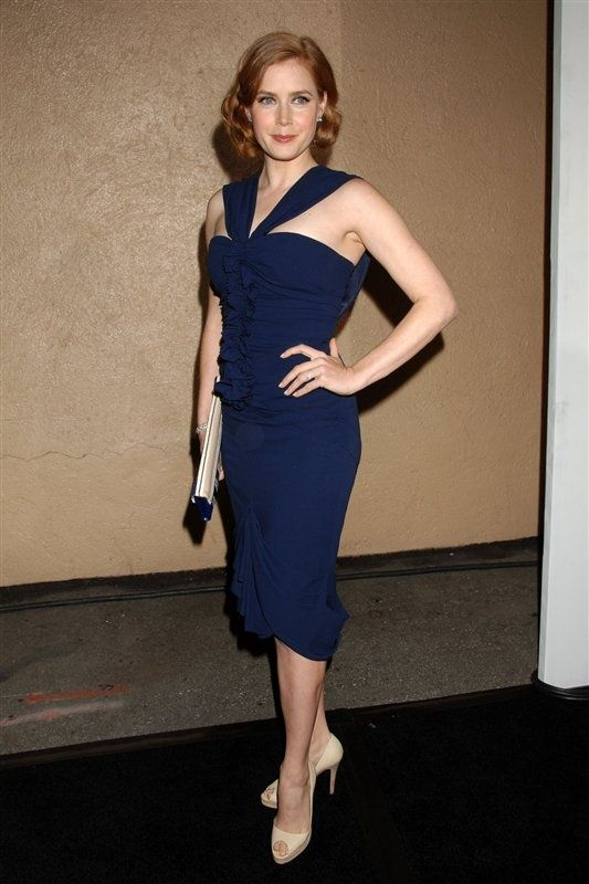Amy Adams Blue Dress  ...