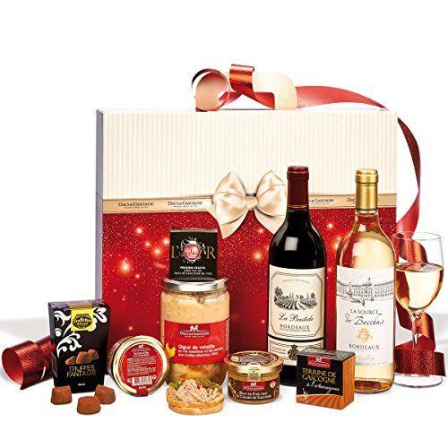Ducs de Gascogne – Coffret «Soirée smoking» – comprend 8 produits dont un bloc de foie gras – spécial cadeau de Noël: Contient un bloc de…