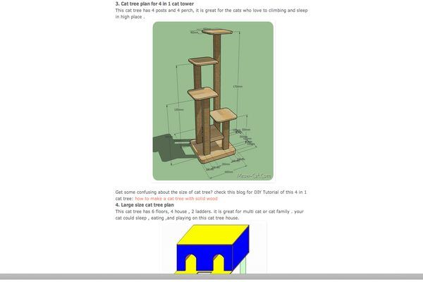 Do It Yourself Cat Tree Play Tower (with Pictures)   eHow