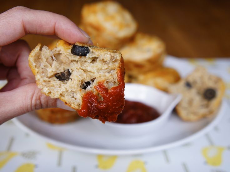Pizza Muffins - Fun #pizza alternative for dinner or party food! by @wearychef