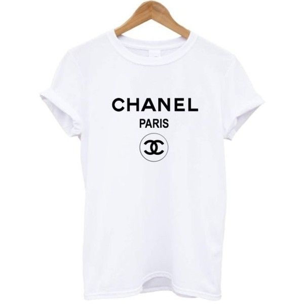 Chanel t shirt tee shirt rihanna tour comme hype ysl geek tee celine... ❤ liked on Polyvore featuring tops, t-shirts, black white top, vintage t shirts, vintage tees, hipster t shirts and black and white t shirt