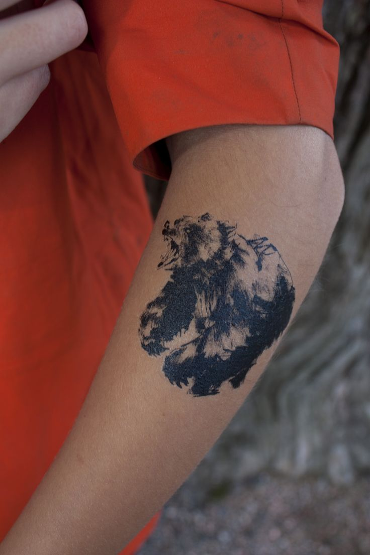 Forest Greetings Temporary Tattoo by Teemu Järvi Illustrations www.teemujarvi.com