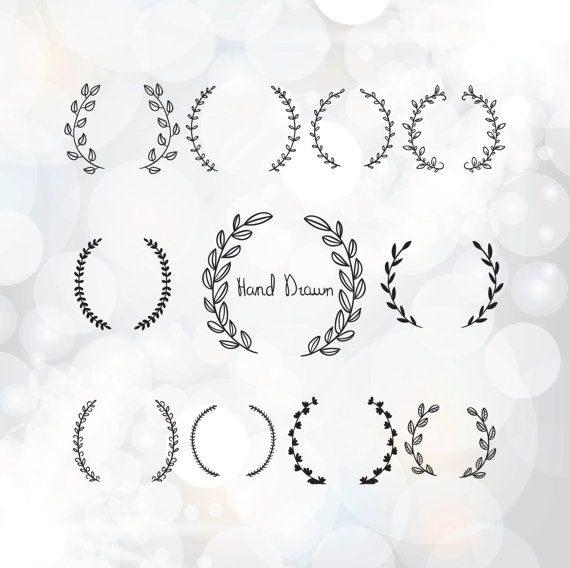 Vintage laurel wreath clipart -  Laurel Wreaths SVG - Wedding Wreath Clipart - Wedding Invitation Clipart -  svg, dxf, eps, pdf files